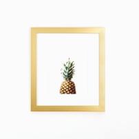 pineapple_art_gold_frame_white_wall